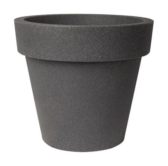 Plust Designový květináč IKON, Ø 60 x 53 cm - tmavě šedý