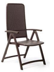 Nardi Garden Skládací židle DARSENA kávová