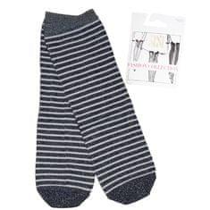 SISI Dámské neprůhledné silonkové vzorované ponožky MULTIRIGHE CALZINO 40DEN