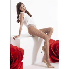 OMSA Dámské módní luxusní vzorované punčocháče FIORY 20 DEN