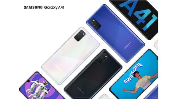Samsung Galaxy A41, ergonomický, zaoblené hrany