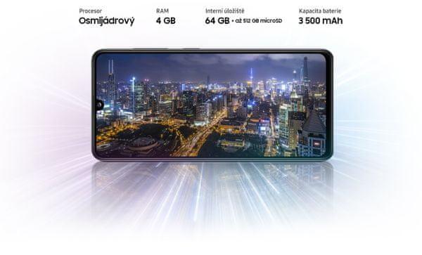 Samsung Galaxy A41, výkonný procesor, veľké úložisko