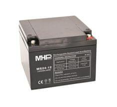 MHpower MS24-12 olověný akumulátor AGM 12V/24Ah, Terminál T1 - M6