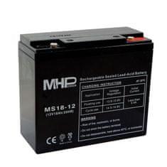 MHpower MS18-12 olověný akumulátor AGM 12V/18Ah, Terminál T1 - M6