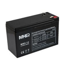 MHpower MS9-12 olověný akumulátor AGM 12V/9Ah, Faston F2 - 6,3mm