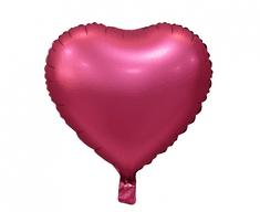 "GoDan Fóliový balón 18"" Vínové srdce"