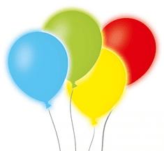 GoDan Farebné LED svietiace balóniky, 4 ks