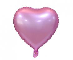 """GoDan Fóliový balón 18"""" srdce - matný, ružový"""