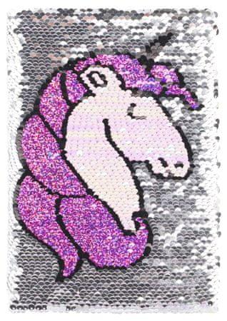 BAAGL bilježnica sa škokicama Unicorn