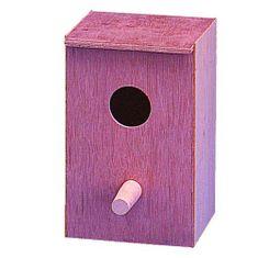 Kiki Drevená búdka vertikálna pre vtáky 14x22x13,5cm
