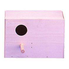 Kiki Dřevěná budka horizontální pro ptáky 14x22x13,5cm
