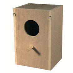 Kiki Drevená búdka špeciálna pre korely a agapornisy 27,9x14,8x17cm