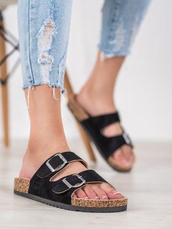 Vinceza Női papucs 64442 + Nőin zokni Sophia 2pack visone, fekete, 36