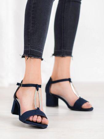 Sandały damskie 64455, odcienie niebieskiego, 38