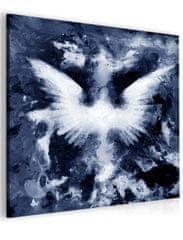 InSmile Abstraktní obraz andělská křídla - modrý Velikost (šířka x výška): 40x40 cm