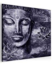 InSmile Abstraktní obraz fialový Buddha Velikost (šířka x výška): 40x40 cm