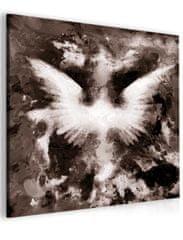 InSmile Abstraktní obraz andělská křídla - hnědý Velikost (šířka x výška): 40x40 cm