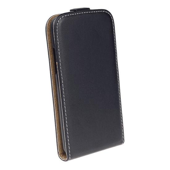 AMA Kožené pouzdro FLEXI Vertical pro Samsung Galaxy J2 J200 - černé