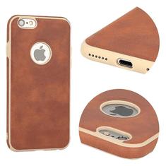 AMA Silikonový/ kožený obal VINTAGE pro SAMSUNG GALAXY S7 (G930) - hnědý