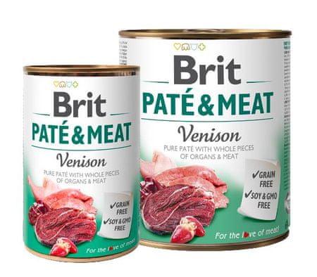 Brit Pate & Meat mokra hrana za pse, divjačina, 400 g