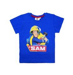SETINO Chlapčenské tričko s krátkym rukávom Hasič Sam - svetlo modrá