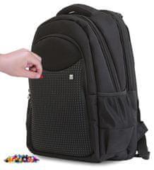 Pixie Crew kreativni školski ruksak, crno-crni