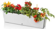 Marex Trade Plastkon samozavlažovací truhlík SUPREME 75 cm, bílý