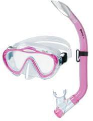Mares Dětský šnorchlovací set Sharky růžový