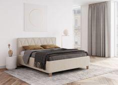 We-Tec Manželská posteľ PETRA 1, 180x200 cm s úložným priestorom + 2 ks bočne výklopné bukové rošty, 3 farby