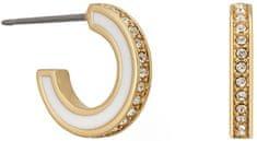Karl Lagerfeld Pozlátené kruhové náušnice s kryštálmi 5545295