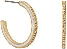 Karl Lagerfeld Pozlátené kruhové náušnice s kryštálmi 5545300