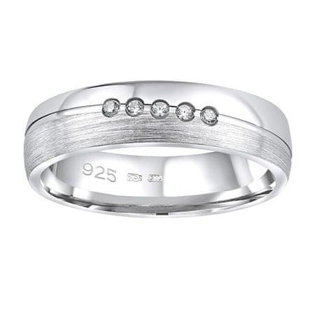 Silvego Presley esküvői gyűrű Presley nőkhez QRZLP012W (Kerület 47 mm) ezüst 925/1000