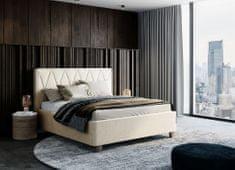We-Tec Manželská posteľ PETRA 2, 180x200 cm s úložným priestorom + 2 ks bočne výklopné bukové rošty, 3 farby