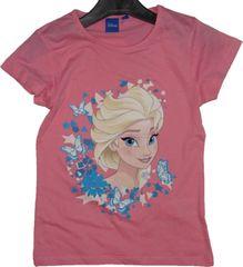 Frozen Dívčí tričko Frozen růžové s Elsou.