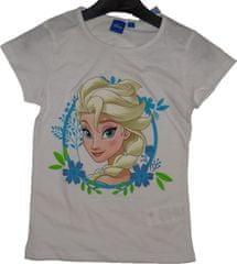 Frozen Dívčí tričko Frozen bílé s Elsou.