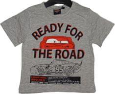 Disney Chlapecké tričko Cars Ready for the road šedé
