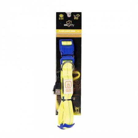 Duvo+ Nylon világító nyakörv USB töltővel 50-70cm/2,5cm