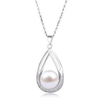 Tiniana Stříbrný přívěšek s pravou říční perlou Eine
