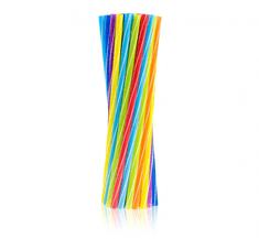 GoDan Plastové slámky 20ks mix - pastelové