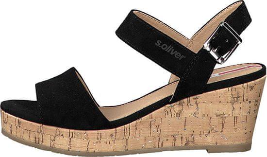 s.Oliver Dámské sandále Black 5-5-28334-24-001 (Velikost 40)