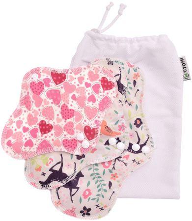 T-tomi pralni vložki Hearts + pralna vrečka