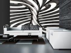 Murando DeLuxe 3D Černobílý vír Rozměry (š x v) a Typ: 200x154 cm - vliesové