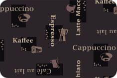 """d-c-fix Prostírání hnědé s nápisy """"KÁVA, CAFÉ, MOKKA"""" F2302512 (12 ks)"""