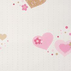Caselio Papírová tapeta na zeď Caselio 61954127, kolekce GIRLS ONLY, materiál papír, styl moderní, dětský 0,53 x 10,05 m 61954127