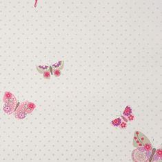 Caselio Papírová tapeta na zeď Caselio 61974015, kolekce GIRLS ONLY, materiál papír, styl moderní, dětský 0,53 x 10,05 m 61974015