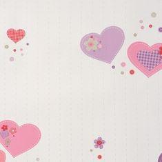 Caselio Papírová tapeta na zeď Caselio 61955280, kolekce GIRLS ONLY, materiál papír, styl moderní, dětský 0,53 x 10,05 m 61955280