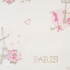 Caselio Papírová tapeta na zeď Caselio 62011060, kolekce GIRLS ONLY, materiál papír, styl moderní, dětský 0,53 x 10,05 m 62011060
