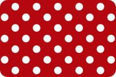 d-c-fix Prostírání puntík bílý na červeném podkladu F2302509 (12 ks)