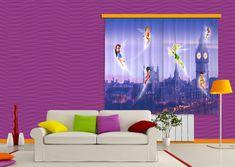 AG design Textilní závěs FAIRIES IN LONDON FCSXL4314, 180 x 160 cm (2 ks)
