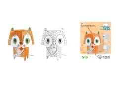 Monumi 3D Kočka k vymalování